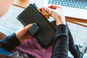wallet, money, credit card